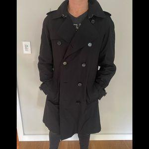 Black Burberry men's trench coat—barely worn!